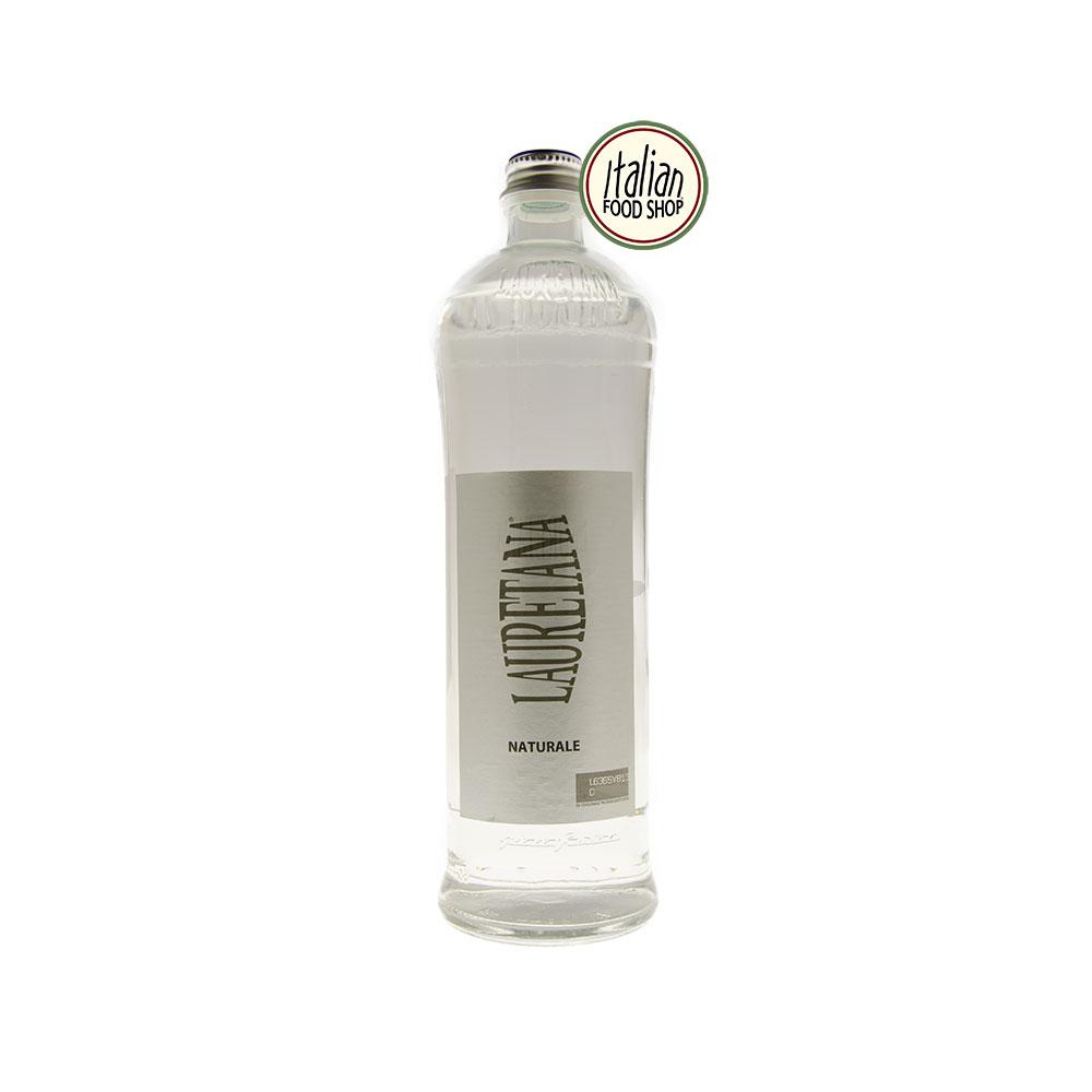 Acqua Lauretana naturale in vetro design Pininfarina